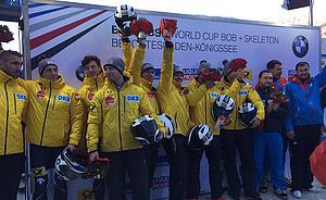 Bobsport: Kuske Zweiter im Viererbob