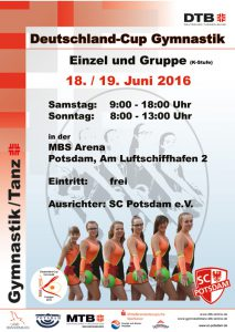 Gymnastik-Cup-Plakat