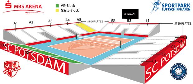 Saaplan MBS Arena neu