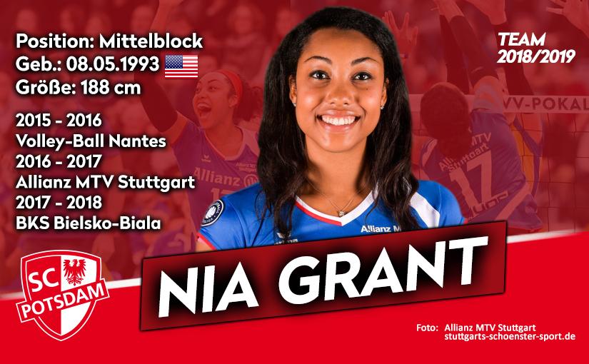 US-Amerikanerin Nia Grant verstärkt den SC Potsdam