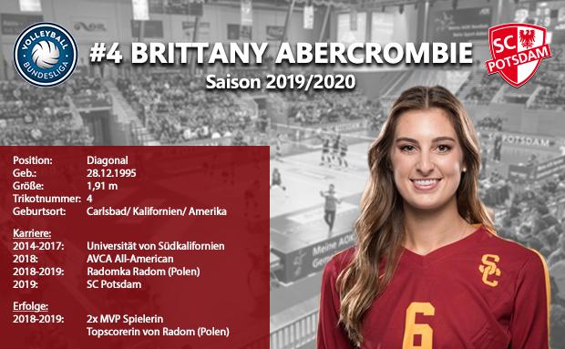 Neuverpflichtung von Brittany Abercrombie (USA)
