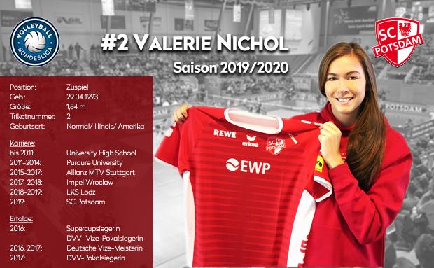 Valerie Nichol spielt für den SC Potsdam