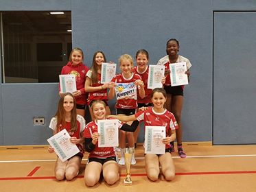 U13 Mädels mit Platz 2 beim Landespokal