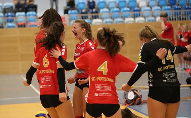 U18 Volleyballerinen qualifiziert für das morgige DM-Viertelfinale