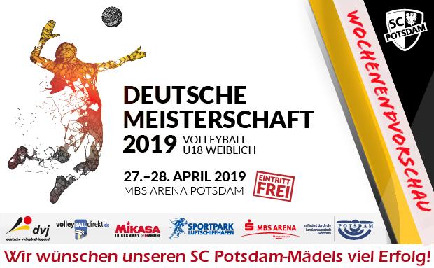 WochenENDvorschau: Deutsche Meisterschaft Volleyball U18 w