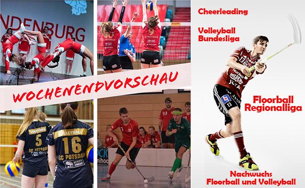WochenENDvorschau Volleyball, Floorball, Cheerleading