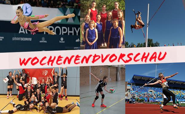 WochenENDvorschau: RSG, Dance, Leichtathletik, Volleyball Nachwuchs