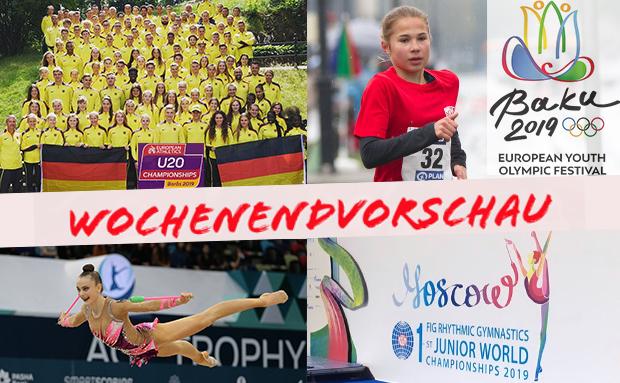 WochenEndvorschau: Leichtathletik U20-EM & EYOF, RSG Junior-WM