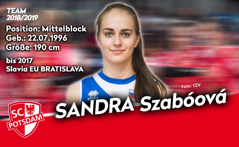 Mittelblockerin Sandra Szaboová kommt