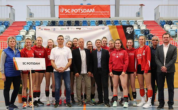 Eröffnung Deutsche Meisterschaft Volleyball U18w geglückt!